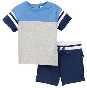 Splendid Short Sleeve Football Tee & Short Set (Baby Boys)