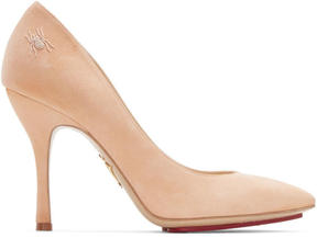 Charlotte Olympia Pink Suede Bacall Heels