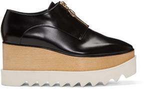 Stella McCartney Black Elyse Zip-Up Platform Derbys