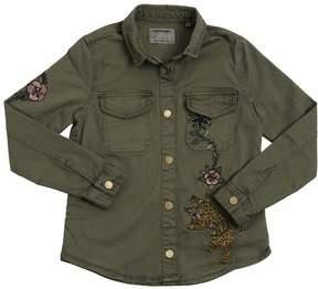 Zadig & Voltaire Embroidered Cotton Gabardine Jacket