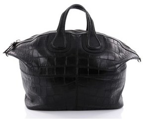 Givenchy Pre-owned: Nightingale Satchel Crocodile Embossed Leather Xl.