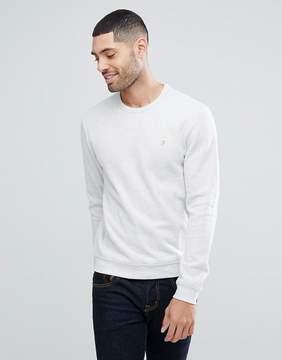 Farah Lacy French Rib Sweatshirt In Gray