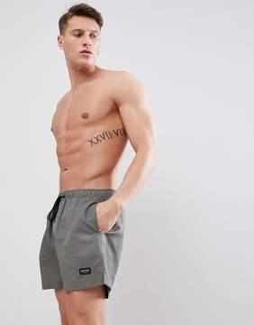 Nicce London swim shorts in khaki