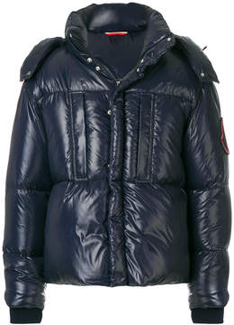 Moncler wet look padded jacket