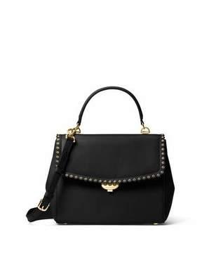 MICHAEL Michael Kors Ava Medium Saffiano Satchel Bag, Black