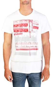 Christian Dior Men's Dual Layered Graphic Jersey T-shirt White.