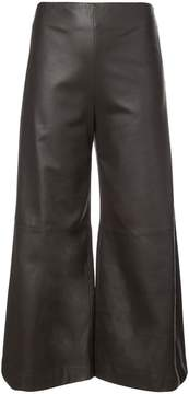 ADAM by Adam Lippes leather wide leg cropped culottes