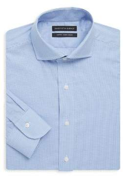 Saks Fifth Avenue BLACK Slim-Fit Gingham Cotton Dress Shirt
