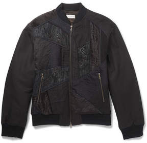 Dries Van Noten Embroidered Panelled Cotton And Linen-Blend Bomber Jacket