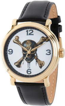 Disney Pirates of the Carribean Mens Black Strap Watch-Wds000372