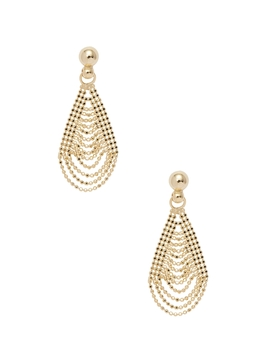 Candela Women's 14K Yellow Gold Tear Drop Bead Chain Dangle Earrings