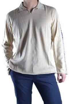 Class Roberto Cavalli Men's Beige Cotton Polo Shirt.