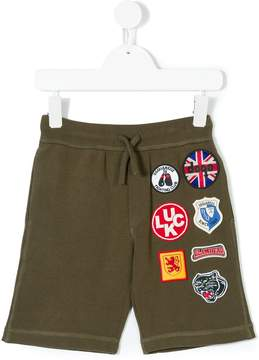 DSQUARED2 multipatches drawstring shorts