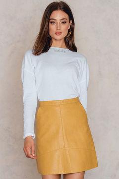 NA-KD A-line Short PU Skirt