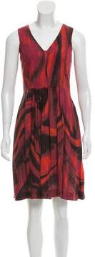 Cacharel Watercolor Print Sleeveless Dress