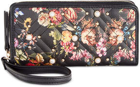 INC International Concepts I.n.c. Quiin Xo Floral Zip Around Wallet, Created for Macy's