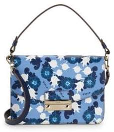 Furla Floral-Print Leather Mini Bag