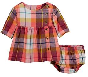 Tea Collection Faodail Flannel Dress & Bloomers Set (Baby Girls)