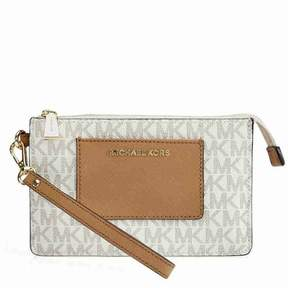 Michael Kors Bedford Signature Large Clutch - Vanilla / Acorn - ONE COLOR - STYLE