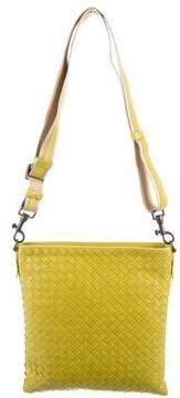 Bottega Veneta Krim Intrecciato Messenger Bag