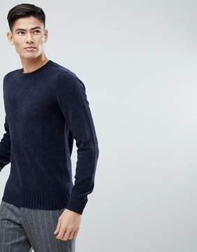 MANGO Man Chenille Sweater In Navy