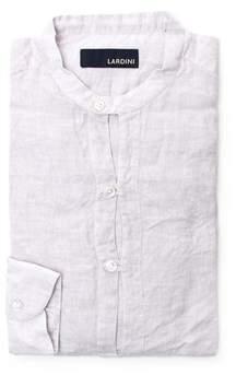 Lardini Men's White Linen Shirt.
