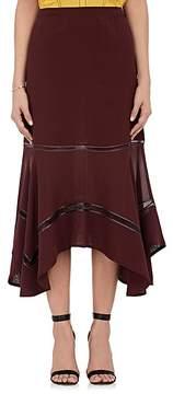 Derek Lam Women's Striped Silk Georgette Midi-Skirt