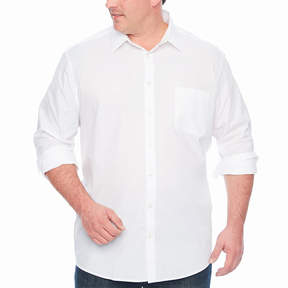 Claiborne Long Sleeve Button-Front Shirt-Big and Tall