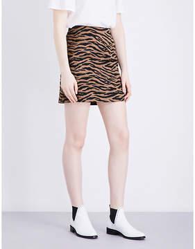 Claudie Pierlot Safari high-rise woven mini skirt