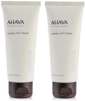 Ahava Deadsea Water Mineral Foot Cream Duo
