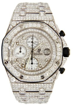 Audemars Piguet Royal Oak Offshore Stainless Steel covered in Diamonds 42mm