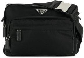 Prada nylon logo satchel
