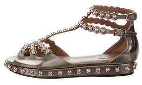 Alaia Metallic Studded Sandals w/ Tags