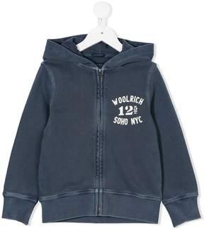Woolrich Kids logo print hoodie