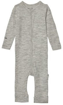 Mini A Ture Mattie Romper, B Light Grey Melange