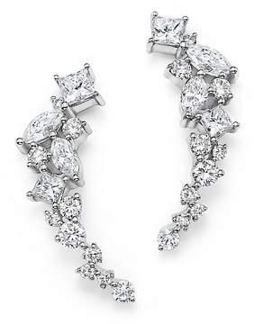 Bloomingdale's Diamond Fancy Cut Ear Climbers in 14K White Gold, 1.0 ct. t.w. - 100% Exclusive