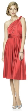 Dessy Collection - MJ-TWIST1 Dress in Firecracker