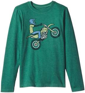 Life is Good Dirt Bike Rider Long Sleeve Crusher Tee Boy's T Shirt