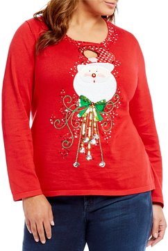 Berek Plus Keyhole Santa Sweater