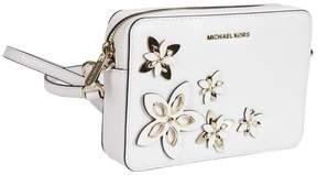 Michael Kors Michael Floral Applique Shoulder Bag - OPTIC WHITE - STYLE