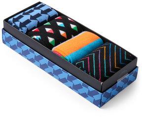 Happy Socks 4-Pack Boxed Fashion Crew Socks