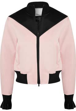 3.1 Phillip Lim Silk-trimmed Satin-crepe Bomber Jacket - Pastel pink