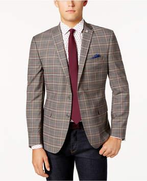 Nick Graham Men's Slim-Fit Plaid Jacket