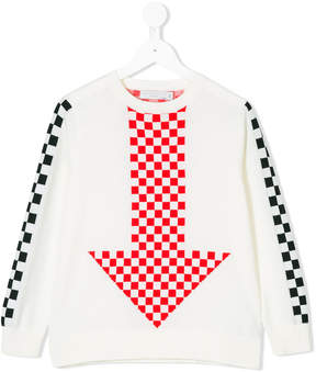 Stella McCartney Narrow check and arrow knitted jumper