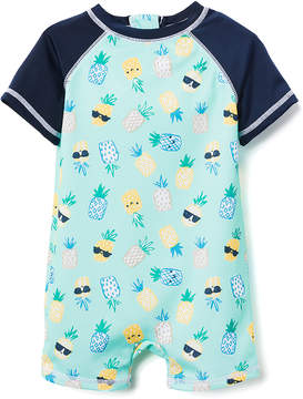 Gymboree Mint & Yellow Pineapple One-Piece - Newborn & Infant