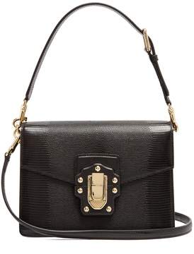 DOLCE & GABBANA Lucia iguana-effect leather bag