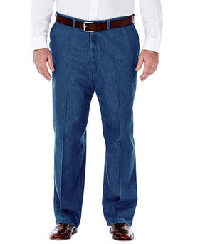 Haggar Work to Weekend Flat-Front Pants-Big & Tall
