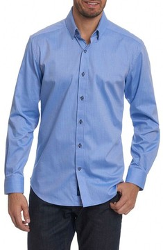 Robert Graham Men's Taner Tailored Fit Dobby Herringbone Sport Shirt