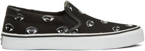 Kenzo Black Eye Slip-On Sneakers