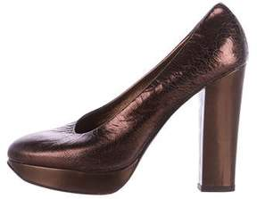 Calvin Klein Collection Metallic Platform Pumps